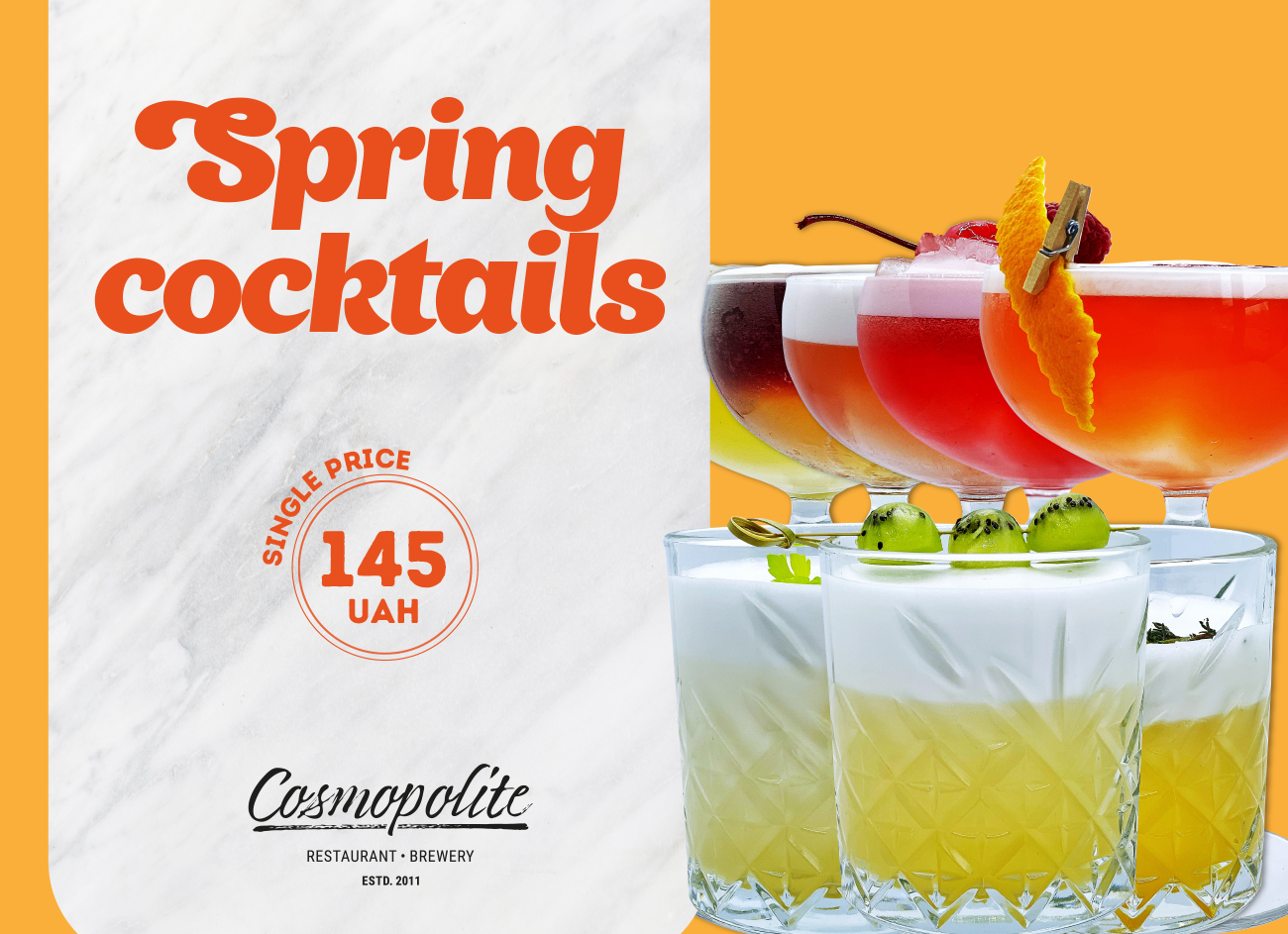 Introducing all-new spring cocktails at Cosmopolite!
