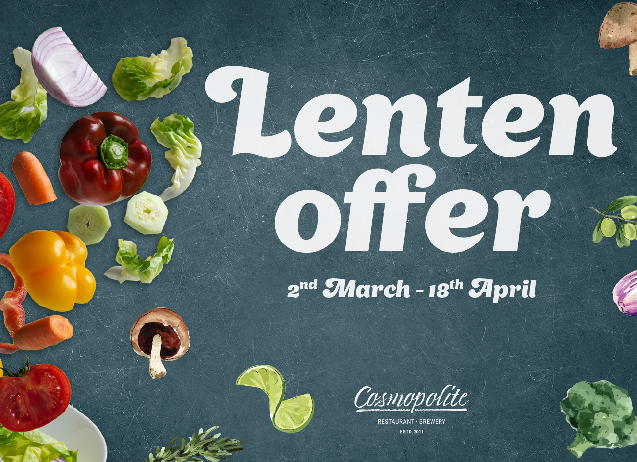 Introducing the Lenten offer at Cosmopolite